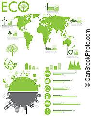 インフォメーション, グラフィック, エコロジー