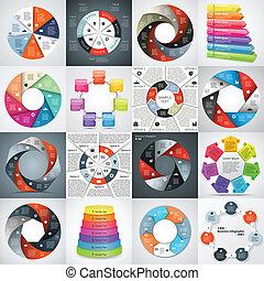 インフォメーション, グラフィック, ビジネス, 現代, プロジェクト, ベクトル