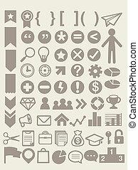 インフォメーション, 適応可能, セット, 要素, グラフィックス