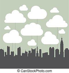 インフォメーション, 都市, エコロジー, グラフィック, 産業, ベクトル, 汚染