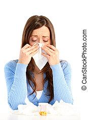 インフルエンザ, アレルギー
