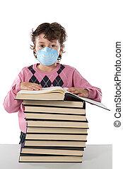 インフルエンザ, infected, 学生, 子供
