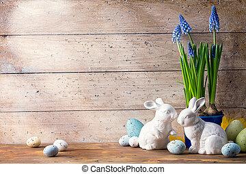 イースターうさぎ, 芸術, 卵