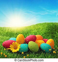 イースター, カラフルである, 卵