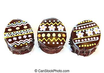 イースター, ケーキ, 卵, チョコレート