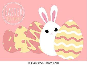 イースター, 挨拶, 卵, うさぎ, カード, 幸せ
