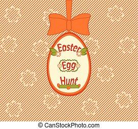 イースター, 捜索, イラスト, ベクトル, 卵, カード