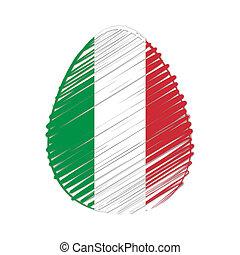 イースター, 旗, 卵, イタリア語