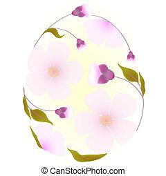 イースター, 装飾, 卵, sakura, elements.
