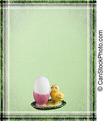 イースター, 鶏, greetingcard