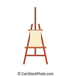 イーゼル, ブランク, 芸術, 装置, 絵, 背景, 白, 隔離された, -, 芸術家