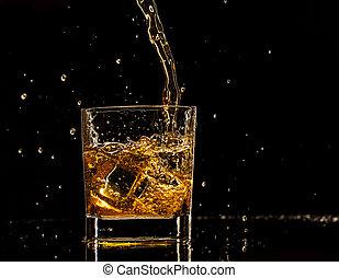 ウイスキー, はねかけること