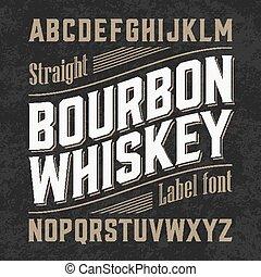 ウイスキー, バーボン, ラベル, 壷