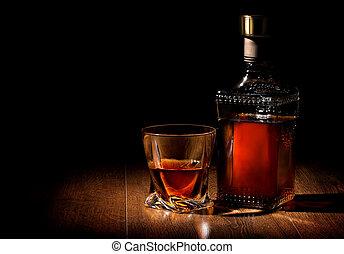 ウイスキー, 上に, テーブル