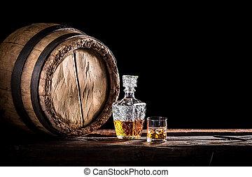 ウイスキー, 大丈夫です, ガラス, distillery, 地下室
