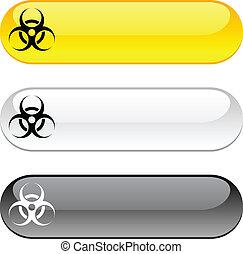 ウイルス, button.
