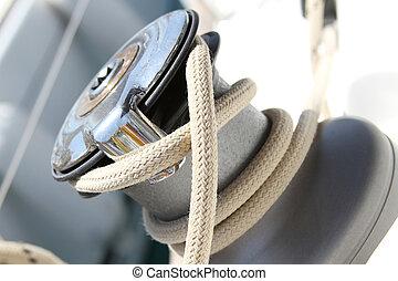 ウインチ, 帆船