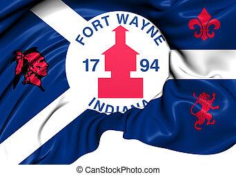 ウェイン, 城砦, usa., 旗