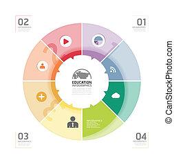 ウェブサイト, ありなさい, スタイル, 使われた, レイアウト, ビジネス, 抽象的, /, infographic,...