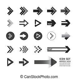 ウェブサイト, ありなさい, セット, レイアウト, アイコン, グラフィック, /, ベクトル, 使われた, 缶, 矢, infographics, デザイン, ∥あるいは∥