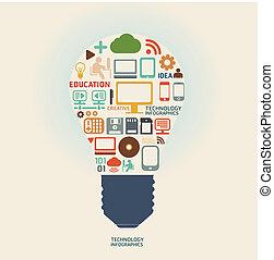 ウェブサイト, ありなさい, 使われた, レイアウト, /graphic, /, ベクトル, デザイン, 缶, テンプレート, infographics, 技術, ∥あるいは∥