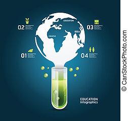 ウェブサイト, ありなさい, 概念, レイアウト, 世界, 科学, infographics, /, ベクトル, 使われた, 缶, テンプレート, /graphic, デザイン, ∥あるいは∥