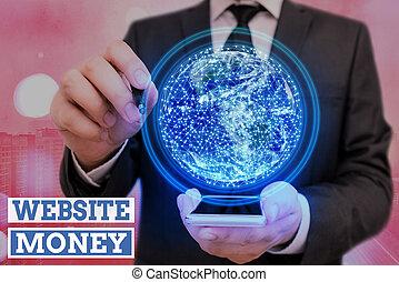 ウェブサイト, お金, テキスト, イメージ, 要素, 促進しなさい, どこ(で・に)か, 供給される, これ, nasa, ほしい, 概念, refers, 私達, お金。, 意味, earned., 手書き