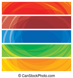 ウェブサイト, カラフルである, これ, templates-, 抽象的, ストライプ, イラスト, 旗, ヘッダー, ...
