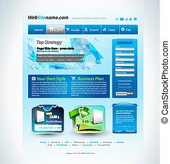ウェブサイト, スタイル, 現代, テンプレート, 技術, 未来派