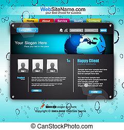 ウェブサイト, スタイル, fututistic, ビジネス, テンプレート, 技術