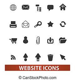 ウェブサイト, セット, ベクトル, アイコン
