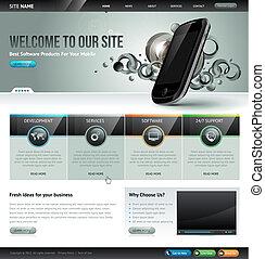ウェブサイト, テンプレート, デザイン