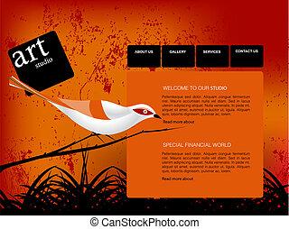 ウェブサイト, テンプレート