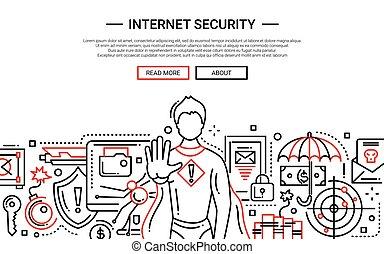 ウェブサイト, -, デザイン, インターネットの 保証, 旗, 線