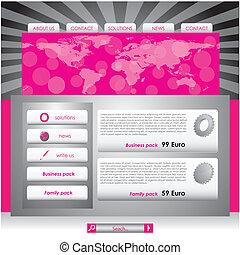 ウェブサイト, デザイン, テンプレート