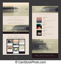 ウェブサイト, デザイン, ページ, テンプレート, 1(人・つ)