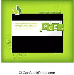ウェブサイト, バックグラウンド。, 緑, テンプレート