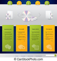 ウェブサイト, プロダクト, 販売, デザイン, テンプレート