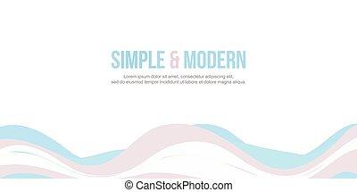 ウェブサイト, ヘッダー, 抽象的, コレクション, 波