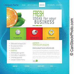 ウェブサイト, ベクトル, テンプレート, ビジネス