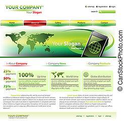 ウェブサイト, ベクトル, editable, テンプレート