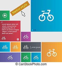 ウェブサイト, ボタン, スタイル, buttons., 自転車, 地下鉄, 印。, 現代, カーソル, ベクトル, pointer., インターフェイス, アイコン