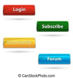 ウェブサイト, ボタン
