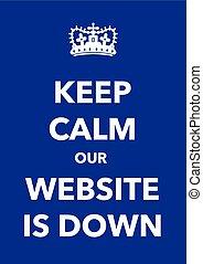 ウェブサイト, ポスター, 冷静, 下方に, たくわえ