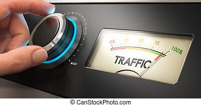 ウェブサイト, 交通, 発生させなさい, もっと