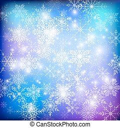 ウェブサイト, 冬, snowflakes., パターン, 抽象的, ベクトル, デザイン, 背景, テンプレート