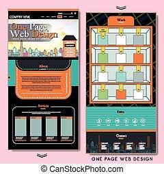 ウェブサイト, 創造的, デザイン, テンプレート, 1(人・つ), ページ