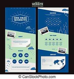 ウェブサイト, 単純さ, 1(人・つ), デザイン, テンプレート, ページ