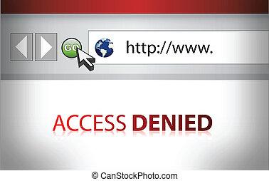ウェブサイト, 否定された, イラスト, アクセス