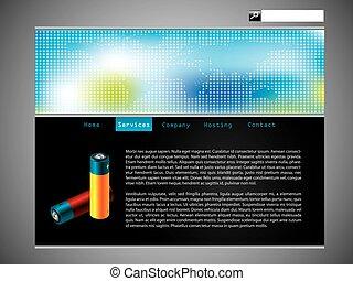 ウェブサイト, 地図, 電池, デザイン, 涼しい